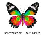 beautiful butterfly. | Shutterstock . vector #150413405