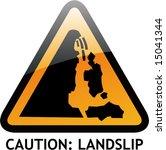 vector of alert sign 36 landslip