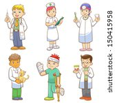 doctor and medical person... | Shutterstock .eps vector #150415958