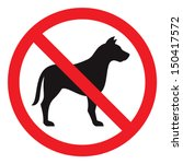 No dog sign, vector illustration