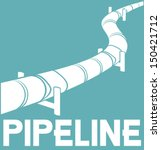 pipeline design  | Shutterstock .eps vector #150421712
