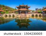 panoramic view of yuantong...   Shutterstock . vector #1504230005