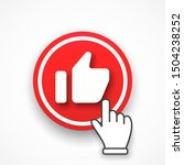 red button thumb up and hand...   Shutterstock .eps vector #1504238252