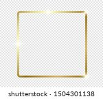 gold shiny glowing frame with...   Shutterstock .eps vector #1504301138
