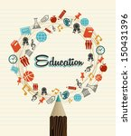 back to school education global ... | Shutterstock .eps vector #150431396