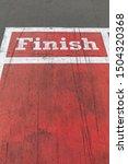 finish line at red running... | Shutterstock . vector #1504320368