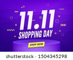 11.11 Shopping Day Sale Poster...