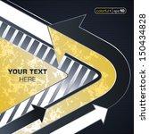 industrial techno style  arrow    Shutterstock .eps vector #150434828