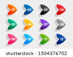 arrow number bullet points from ... | Shutterstock .eps vector #1504376702
