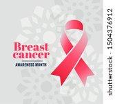 breast cancer awareness month... | Shutterstock .eps vector #1504376912