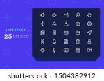 interface icon set vector...