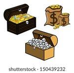 treasure and skull filled...   Shutterstock .eps vector #150439232