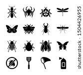 insect solid icons vector design | Shutterstock .eps vector #1504426955