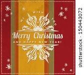vintage vector christmas card | Shutterstock .eps vector #150443072