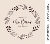 merry christmas greeting text... | Shutterstock .eps vector #1504433552