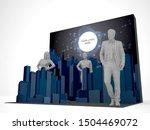 3d illustration stage backdrop... | Shutterstock . vector #1504469072