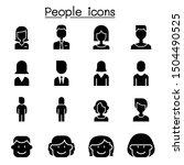People Icon Set Vector...