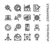thin line business icon set  | Shutterstock .eps vector #1504499615