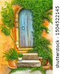 Door Of Old House Entwined With ...
