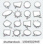 set of blank template in pop... | Shutterstock . vector #1504532945