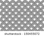 black and white half circle... | Shutterstock .eps vector #150455072