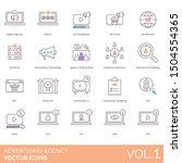 advertising agency icons... | Shutterstock .eps vector #1504554365