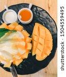 fresh mango bingsu  so sweet   Shutterstock . vector #1504559495