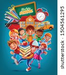 back to school illustration... | Shutterstock .eps vector #1504561295