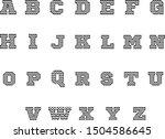 chevron font icon on white... | Shutterstock .eps vector #1504586645