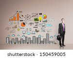 businessman standing in office... | Shutterstock . vector #150459005