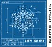 snowflake as technical... | Shutterstock .eps vector #1504625642