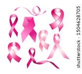 breast cancer awareness pink... | Shutterstock .eps vector #1504628705