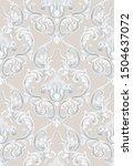 rococo texture pattern vector.... | Shutterstock .eps vector #1504637072