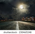 asphalt road leading into the... | Shutterstock . vector #150465248