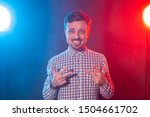 charming young smiling hipster... | Shutterstock . vector #1504661702