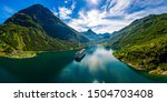 Geiranger fjord, Beautiful Nature Norway. The fjord is one of Norway