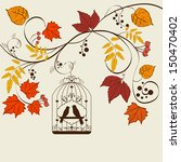 Vector Autumn Background Desig...