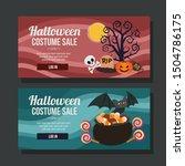 halloween costume sale banner... | Shutterstock .eps vector #1504786175