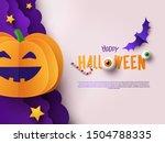 halloween modern minimalistic... | Shutterstock .eps vector #1504788335