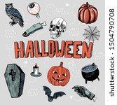 Hand Drawn Halloween Set....