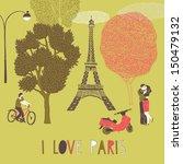 I Love Paris Print Design