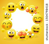 cartoon emoji collection. set... | Shutterstock .eps vector #1504798418
