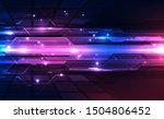 abstract futuristic digital... | Shutterstock .eps vector #1504806452