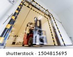 Forklift In A Large Industrial...