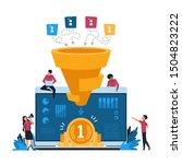 funnel leads generation.... | Shutterstock .eps vector #1504823222