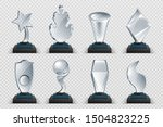 glass awards. realistic... | Shutterstock .eps vector #1504823225