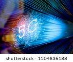 5g signs with fiber optics... | Shutterstock . vector #1504836188