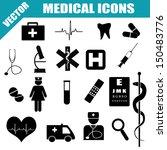 medical icons set on white... | Shutterstock .eps vector #150483776