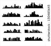 illustration  silhouette city | Shutterstock .eps vector #150485645