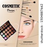 visual drawing for ads cosmetic ... | Shutterstock .eps vector #1504887662